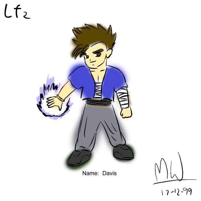 LF2角色設計草圖(Davis )
