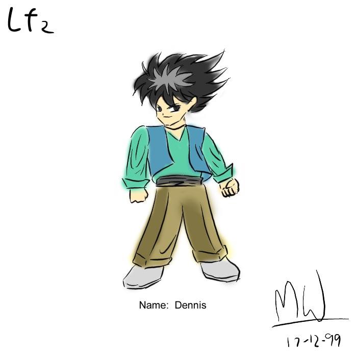 LF2角色設計草圖(Dennis)