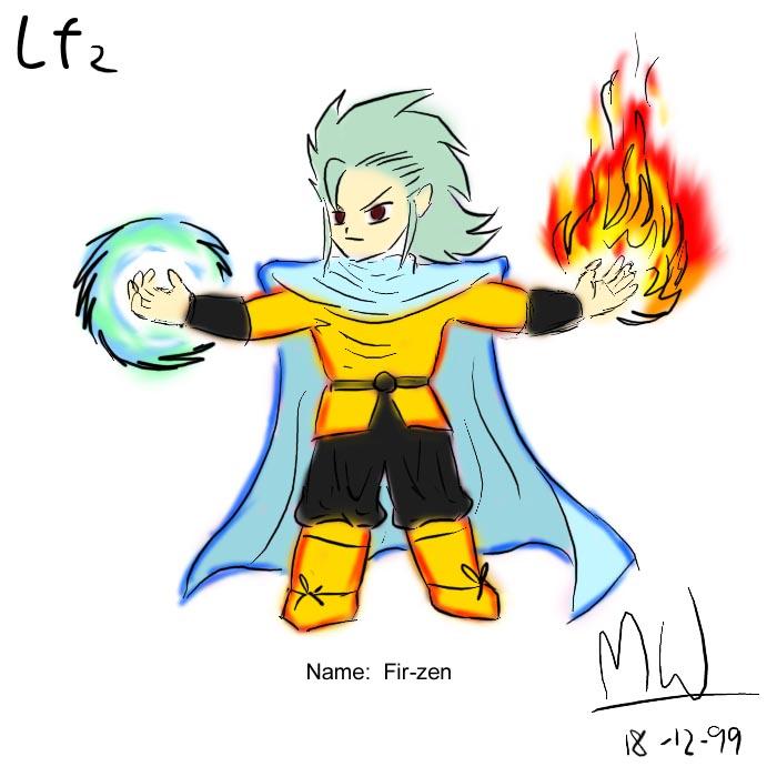 LF2角色設計草圖(Firzen)