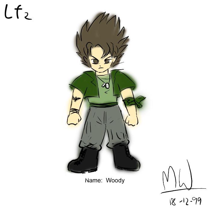 LF2角色設計草圖(Woody)
